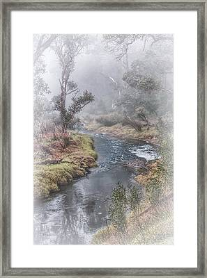 A Misty Morning In Bridgetown Framed Print
