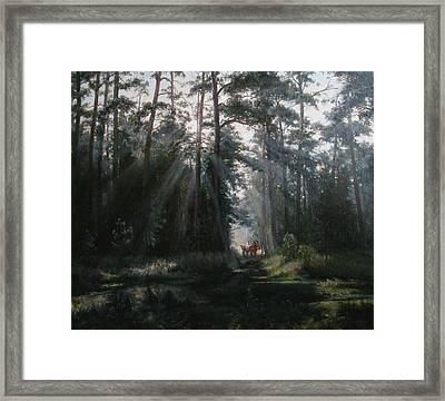 A Misty Morning Framed Print by Korobkin Anatoly