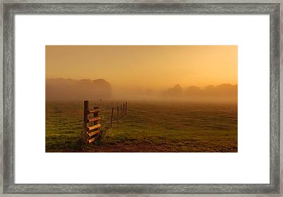 A Misty Sunrise Framed Print by Chris Fletcher