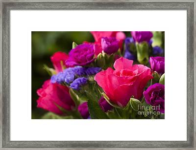 A Mixed Bouquet Framed Print by Anne Gilbert