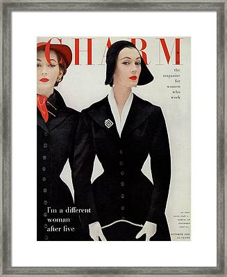 A Model In A Chesterfield Coat Framed Print by William Helburn