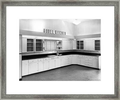 A Model Kitchen Framed Print by Underwood Archives