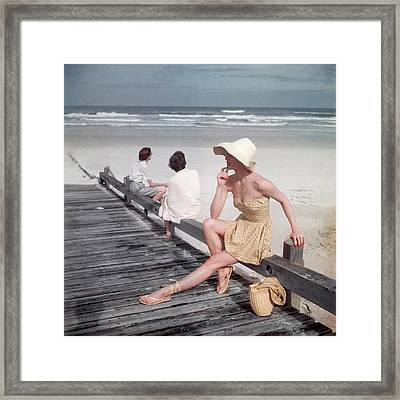 A Model Sitting On A Ramp Framed Print by Serge Balkin