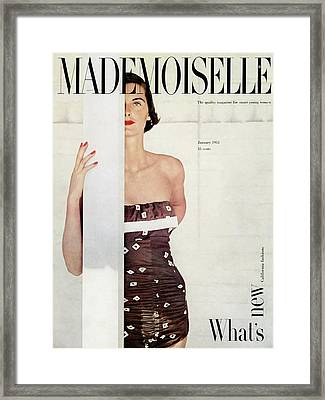A Model Wearing A Bathing Suit By Cole Framed Print