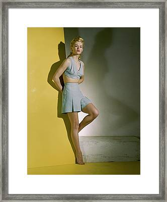 A Model Wearing A Bathing Suit Framed Print by Horst P. Horst