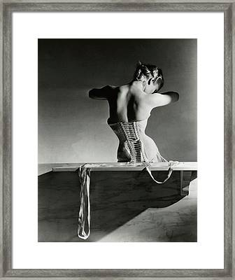 The Mainbocher Corset Framed Print by Horst P Horst