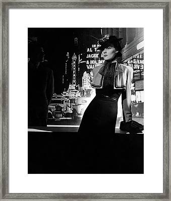 A Model Wearing A Dress And Bolero On A New York Framed Print by Horst P. Horst