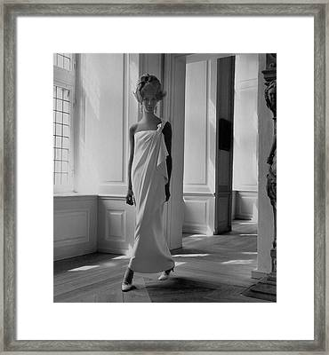 A Model Wearing A Jean Louis Gown Framed Print by Horst P. Horst