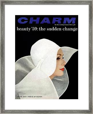 A Model Wearing A John Frederics Charmer Hat Framed Print