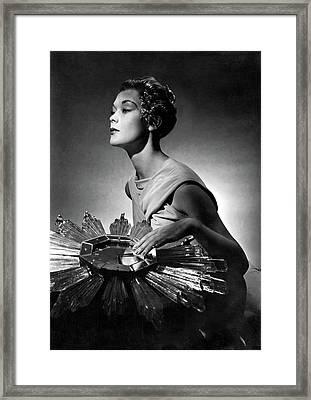 A Model Wearing A Schiaparelli Dress Framed Print by Horst P. Horst