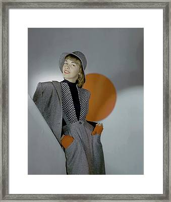 A Model Wearing A Suit Framed Print by Horst P. Horst