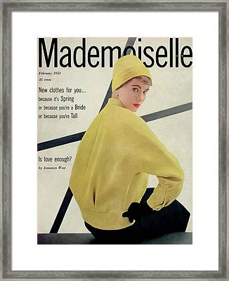 A Model Wearing A Wool Boucle And Skirt Framed Print by Stephen Colhoun