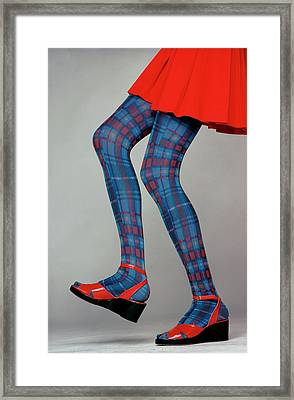 A Model Wearing Amerex Stockings Framed Print by Puhlmann Rico