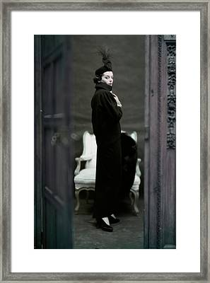 A Model Wearing An Adele Simpsons Ensemble Framed Print