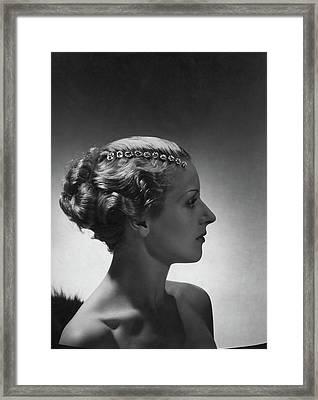 A Model Wearing Cartier Jewelry Framed Print
