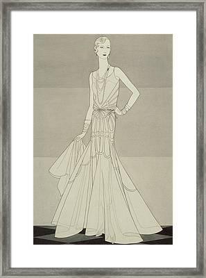 A Model Wearing Chanel Framed Print by Douglas Pollard