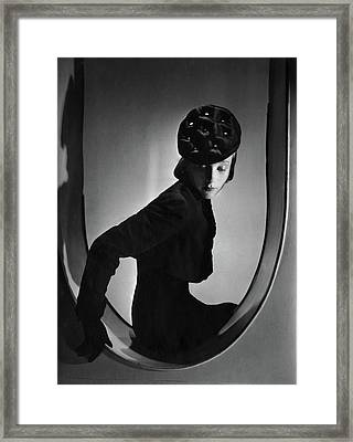 A Model Wearing Clothing By Schiaparelli Framed Print by Horst P. Horst