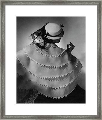 A Model Wearing Lanvin Framed Print by Horst P. Horst