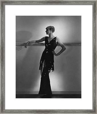 A Model Wearing Schiaparelli Framed Print by Horst P. Horst