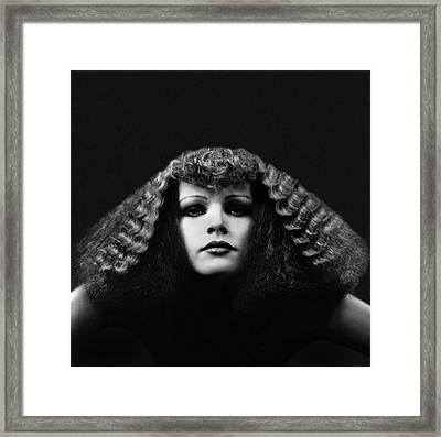 A Model With A Pyramid Haircut Framed Print by Sarah Moon