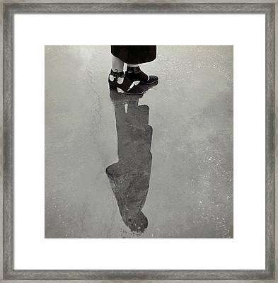 A Model's Feet Wearing R. R. Bunting Shoes Framed Print by Roger Schall
