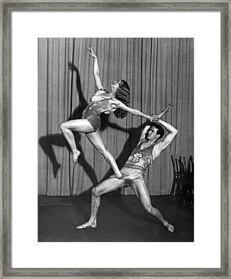 A Modern Dance Team Framed Print by Underwood Archives