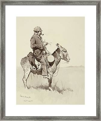 A Modern Sancho Panza Framed Print by Frederic Remington