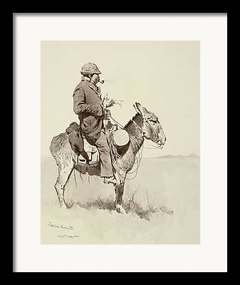 Sancho Panza Framed Prints