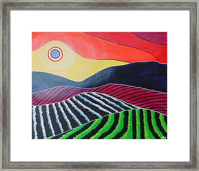 A Modern Winery Framed Print by Laura Hol Art