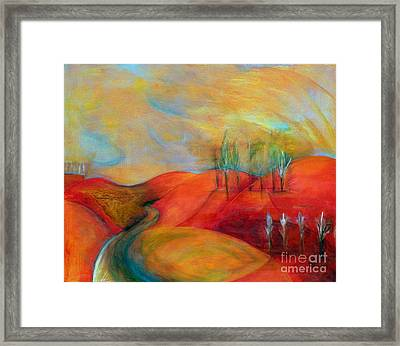 A Moment Ago Framed Print