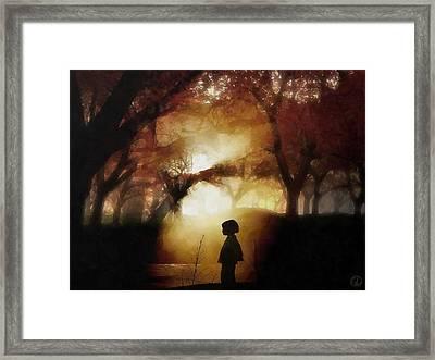 A Moment Beyond Time Framed Print by Gun Legler
