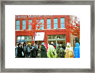 A Moment In Arkansas History Framed Print