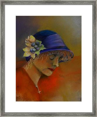 A Moment In Pray Framed Print by Sandra Sengstock-Miller