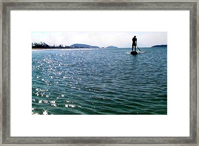A Moment Of Enjoy Sup #1 Framed Print by Chikako Hashimoto Lichnowsky