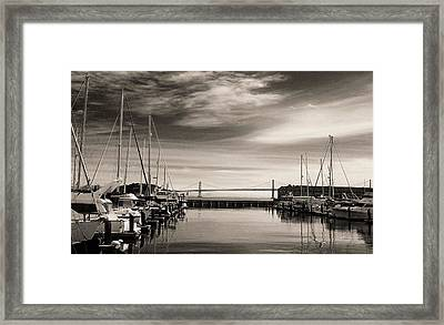 A Moment Of Silence In The City Framed Print