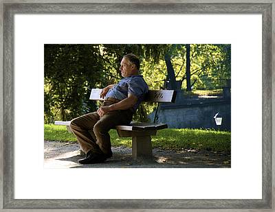 A Moment To Rest Framed Print