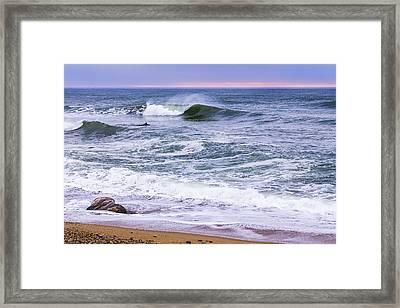 A Montauk Wave Framed Print