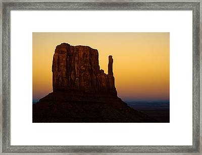 A Monument Of Stone - Monument Valley Tribal Park Framed Print by Gregory Ballos