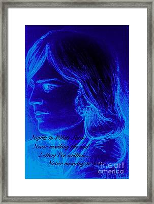 A Moody Blue Framed Print