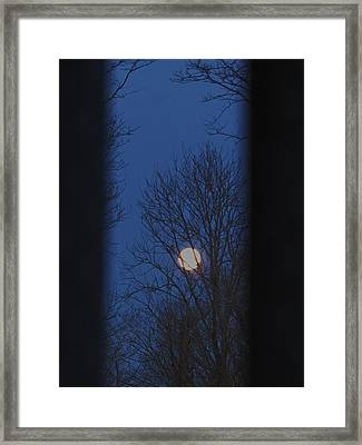 A Moon In A Blue Morning Framed Print