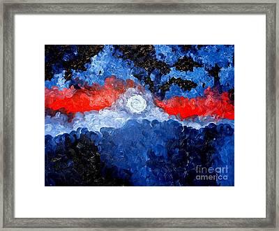 A Moon Framed Print by Josh  Williams