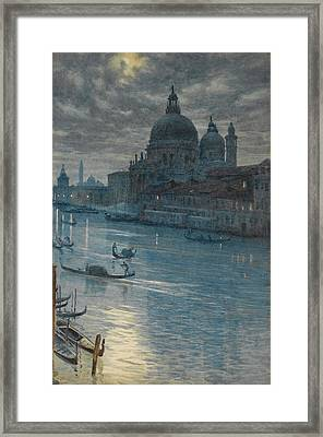 A Moonlight Scene. Venice Framed Print by Edward John Poynter