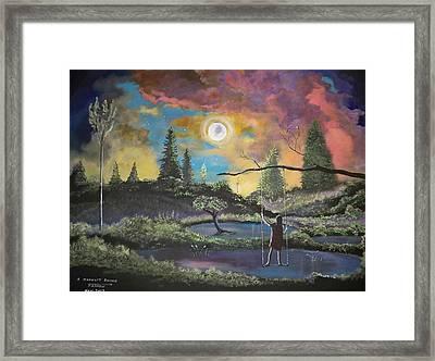 A Moonlit Swing Framed Print