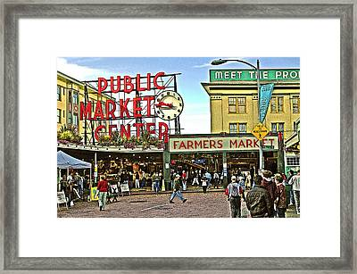 A Morning At Pikes Place Market Framed Print