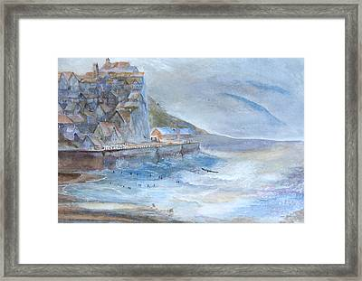 A Morning At The Sea Side Framed Print by Theo Brush