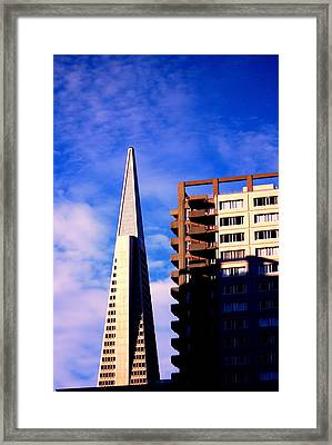 A Morning Profile Of Sf Framed Print by Nick Busselman