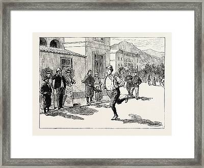 A Morning Ride In Athens, Greece, And In This Sorry Plight Framed Print