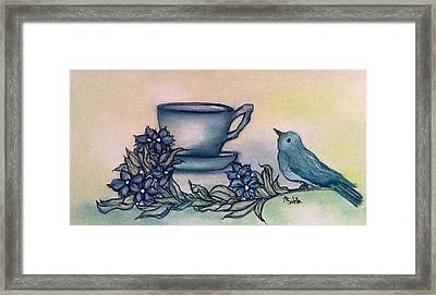 A Morning Visit Framed Print