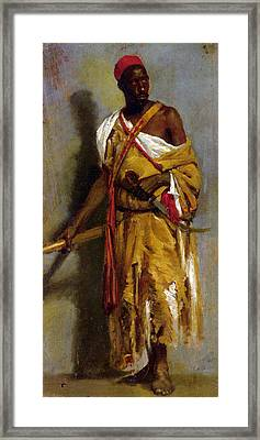 A Moroccan Guard Framed Print by Stefano Ussi
