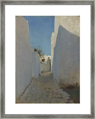 A Moroccan Street Scene, 1879-1880 Framed Print by John Singer Sargent